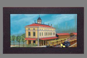 Cuadro de la estación de tren de Portugalete